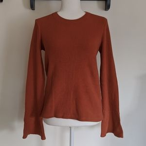 Madewell Burnt Orange Bell Sleeve Top